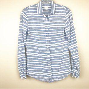J.crew XXS button down boy shirt blue stripe